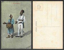 Old Egypt Postcard - Artist Signed E.B. Norton - Cairo Trust #38, Expostulation