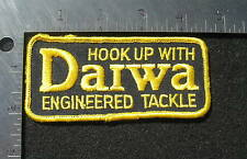 "DAIWA  SEW ON ONLY PATCH REELS ROD LURES FISHING TACKLE LINE ANGLER 4 1/2"" x  2"""
