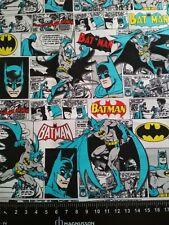 Batman Cartoon White DC Comic 100% Cotton Woven Shirt Facemasks Fabric