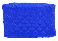 Quilted Cosmetic Makeup Bag Blue