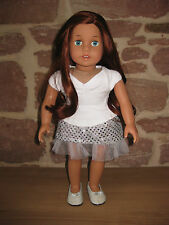 Rot Welliges Lockiges Haar 24 26 cm 1//3 BJD Puppe Perücke Anime Girl Cosplay