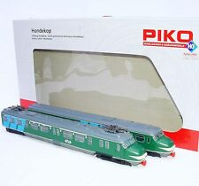 "Piko HO Dutch NS MAT 54 ""MOUSTACHE DOGHEAD"" EMU Multiple 2-Unit Train Set MIB #1"
