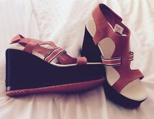 85cb5118902 Original new Lacoste leather sandals wedges Size 7 (40