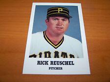 PITTSBURGH PIRATES RICK REUSCHEL 1986 TEAM ISSUED CARD