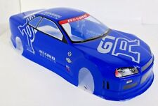 Nismo R34 GTR Blue Painted RC Body 1/10th Scale HPI Traxxas Kyohso Nissan