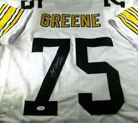 """""""MEAN"""" JOE GREENE / NFL HALL OF FAME / AUTOGRAPHED STEELERS CUSTOM JERSEY / COA"""