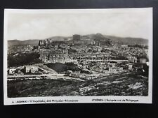 Greece ATHENES Acropolis Panoramic View - Old RP Postcard by Delta 4