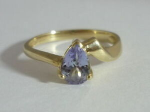 Really Stunning Certified Tanzanite & 9K Gold Ring Size N
