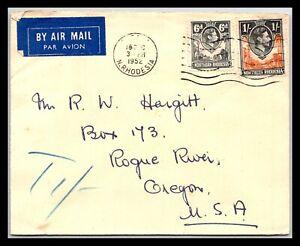 GP GOLDPATH: NORTHERN RHODESIA COVER 1952 AIR MAIL _CV699_P20