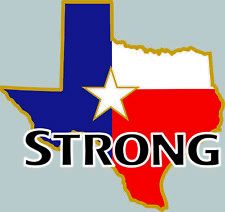 Texas Strong Hurricane Bumper sticker decal state Support Graphic Harvey