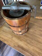 Vintage Crank Ice Cream Maker Wood Still Works