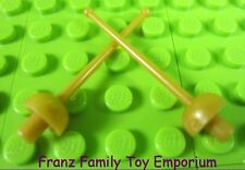 New LEGO Minifig Weapon Lot of 2 GOLD SWORD/FOIL Disney Captain Hook Pirate