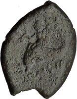 POSEIDONIA Paestum Lucania 280BC Poseidon Dolphin Trident Greek Coin i38060