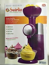 NEW, Big Boss 9370 Swirlio Frozen Fruit Dessert Maker- Purple