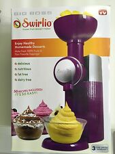 NEW, Big Boss 9370 Swirlio Frozen Fruit Dessert Maker- Purple