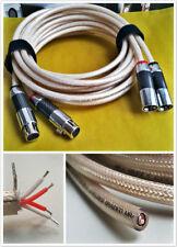 1m ITEM016 XLR Phono Cable Carbon Rhoidum Plug high Grade  Silver Plated
