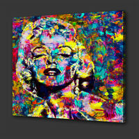ICONIC MARILYN MONROE COLOURFUL ACRYLIC STYLE WALL ART PICTURE CANVAS PRINT