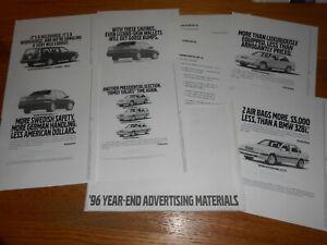 1996 VOLVO 850 & 960 ADVERTISING MATS and RADIO COMMERCIALS / BROCHURE / CATALOG