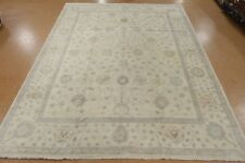 12 x 15 OUSHAK Tribal Hand Knotted Wool IVORY BLUE GRAY New Oriental Rug Carpet