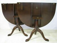 Kittinger Williamsburg Mahogany Chippendale Style Dining Table