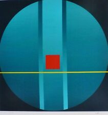 FRIEDRICH GEILER Geometric Composition 2013 HAND SIGNED LITHOGRAPH German Artist