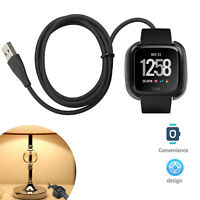 1/2PCS For Fitbit Versa/Versa Lite Smart Watch USB Charging Cable Power Charger