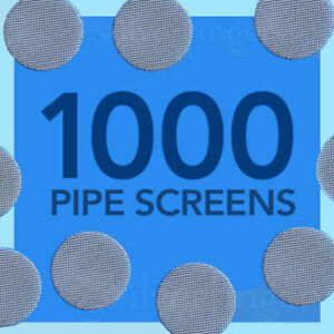 "1000 PIPE SCREENS STAINLESS STEEL ¾""— FIlters Glass Metal Wood Smoking Pipes"