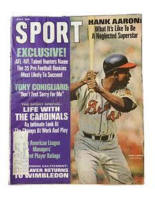 SPORT Magazine July 1968 Issue HANK AARON Rare Find Good Condition