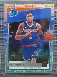 2020-21 Donruss Obi Toppin Rated Rookie Parallel Rookie Card #229 Knicks C714