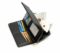 Womens RFID Blocking Wallet Leather Zip Around Long Clutch Large Travel Purse