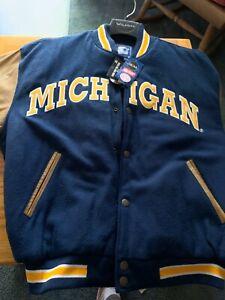 Vintage Starter Mich IganFighting Irish Varsity Letterman Jacket Size L