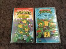Teenage Mutant Hero Turtles 2 great Retro VHS tapes PUNK FROGS / HOW IT ALL BEGA