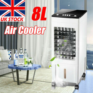 Air Cooler Humidifier Cooling Fan Ice Silent Conditioner Evaporative Portable UK