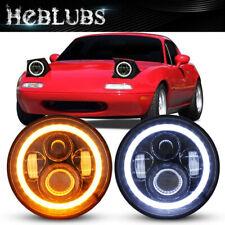 "For 90-97 Mazda Miata MX5 MX-5 H6024 Pair of 7"" LED Halo Headlight Lights NEW"