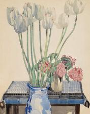 Mackintosh Rennie Charles White Tulips Canvas 16 x 20  #4767