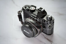 BLACK PU LEATHER Camera Wrist Strap - Vintage strap for all camera