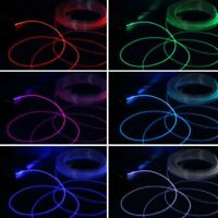 PMMA Side Glow Optic Fiber Cable 1.5-4mm For Car LED Lights Decorations 1m/roll