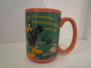 """Daffy Duck """"I'm Rich, I'm Wealthy"""" Coffee Mug 2000 Looney Tunes Warner Bros"""