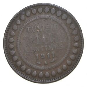 Better Date - 1917 Tunisia 10 Centimes *112