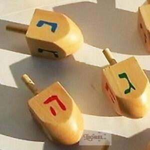 Cute Wooden Chanukah Dreidel Spin Top, Jewish Hanukkah Gift Hanukah Wood Draydel