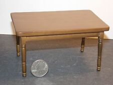 Dollhouse Miniature Dining Room Table Walnut 1:12 inch scale H152 Dollys Gallery