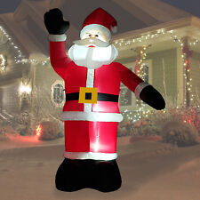 8ft inflatable father christmas air blown decoration yard santa claus light up