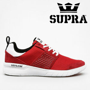 NEW Supra Scissor Shoes Trainers Running Skate Casual - Red / Black / White