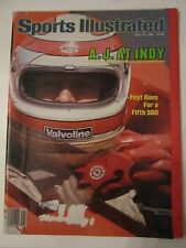 4 VINTAGE SPORTS ILLUSTRATED MAGAZINES - AL UNSER, A.J. FOYT & INDY - BOX C
