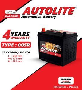 AUTOLITE BATTERY TYPE 005R 12V 70AH Heavy Duty Car Battery 4 year warranty