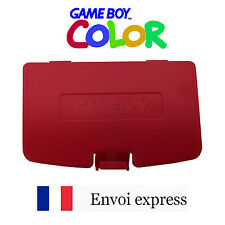 Cache pile Rouge Game Boy Color neuf [Battery cover Gameboy GBC] Red