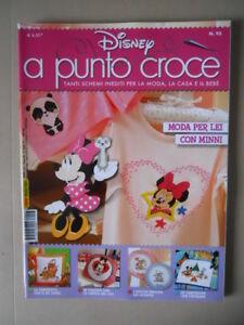 DISNEY a Punto Croce Rivista Maglia Ricamo n°93 2017 Panini Disney [OGL] RARA!