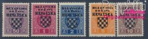 Croatia P1-P5 (complete issue) with hinge 1941 Porto Brand (8357666