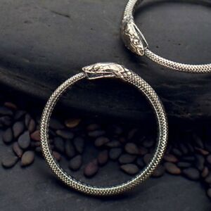 Ouroboros Ring .925 Sterling Silver Ouroboros Snake Stacking Ring.