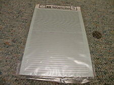 """Microscale  decals HO 87-214 4"""" and 6"""" striping silver   TT"""